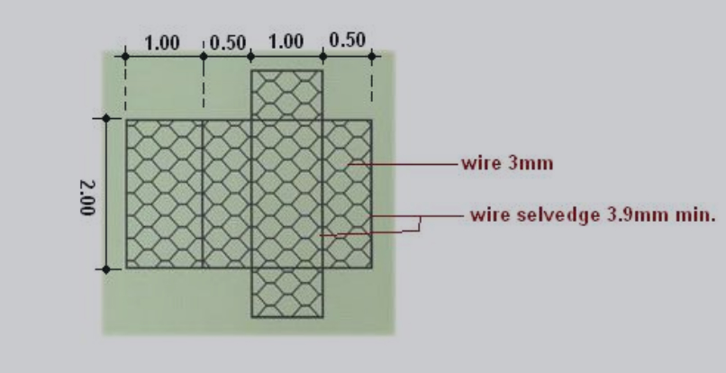 Design Drawing of Gabion Box Mesh and Wire