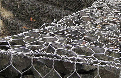 RAL 7037 Grey powder coated galfan galvanized rock mattress gabions for New Zealand