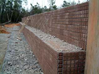 Block Faced Walls Are Pre Cast 12 Quot X 6 Quot X 3 Quot Masonry Units